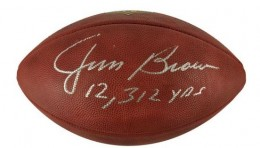 Jim Brown Signed Football