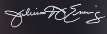 Julius Erving Cut Signature