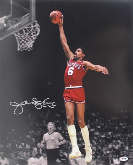 Julius Erving Signed Photo