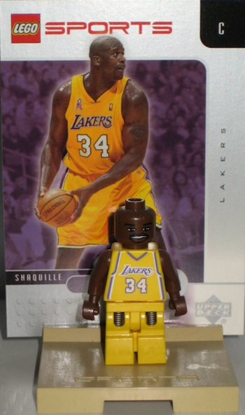 Lego NBA Shaquille O'Neal Stand Figure Card Set