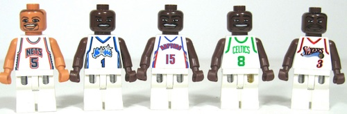 Lego Ultimate NBA Arena White Jersey Figures