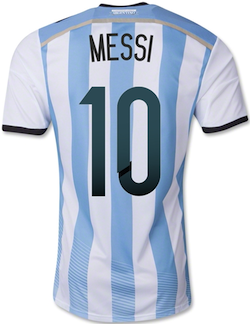 Lionel Messi Argentina National Team Jersey Authentic back