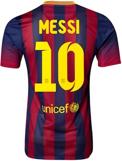 Lionel Messi FC Barcelona Jersey Authentic back
