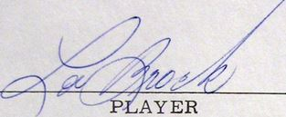 Lou Brock Signature Example