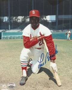 Lou Brock Signed Photo