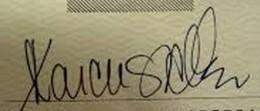 Marcus allen Signature Example