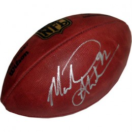 Michael Strahan Signed Football