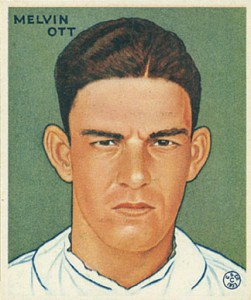 Top 10 Mel Ott Baseball Cards 12