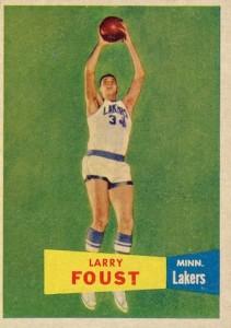 1957-58 Topps Larry Foust RC