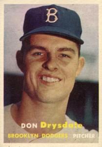 1957 Topps RC Don Drysdale