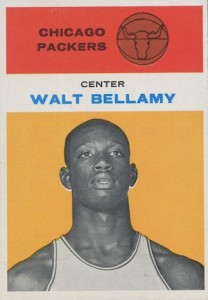 1961-62 Fleer Walt Bellamy RC