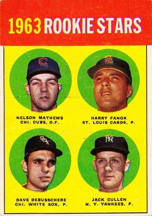 1963 Topps Dave DeBusschere RC #54 Baseball