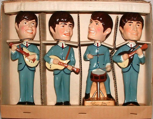 1964 Car Mascots The Beatles Bobbleheads