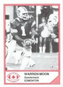 1983 Jogo CFL Quarterback Set Warren Moon