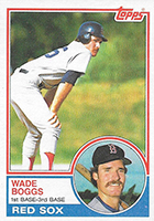 Wade Boggs Cards, Rookie Cards and Autographed Memorabilia Guide