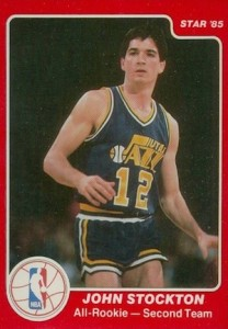 1985-86 Star All-Rookie John Stockton #8
