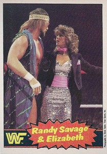 1985 O-Pee-Chee WWF Pro Wrestling Stars Randy Savage and Elizabeth