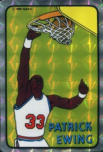 1985 Prism Jewel Stickers Patrick Ewing