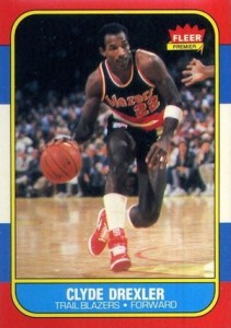 1986-87 Fleer Clyde Drexler RC #26