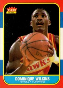 1986-87 Fleer Dominique Wilkins RC #121