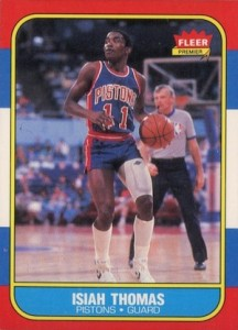 1986-87 Fleer Isiah Thomas RC #109