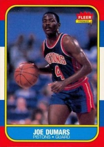 1986-87 Fleer Joe Dumars RC #27