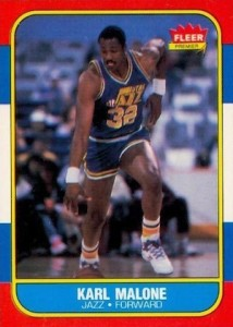 1986-87 Fleer Karl Malone RC #68