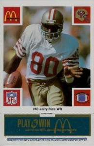 1986 McDonald's SF 49ers Jerry Rice