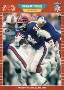 1989 Pro Set Thurman Thomas RC