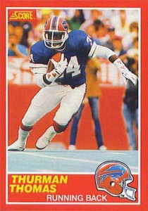 1989 Score Thurman Thomas RC