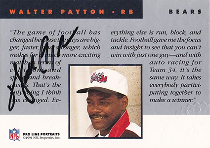 Sweetness! Top 10 Walter Payton Cards of All-Time 8