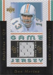 1996 Upper Deck Game Jerseys Dan Marino #GJ7