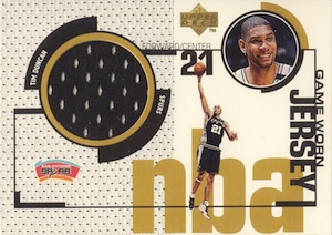 1998-99 Upper Deck Game Jerseys Tim Duncan #GJ15