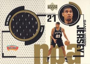 1998-99 Upper Deck Game Jerseys Tim Duncan #GJ31