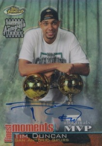 2000-01 Topps Finest Moments Autographs Tim Duncan