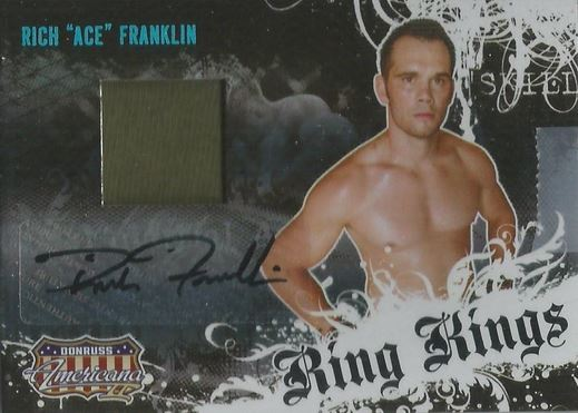 Rich Franklin Cards and Autographed Memorabilia Guide 3