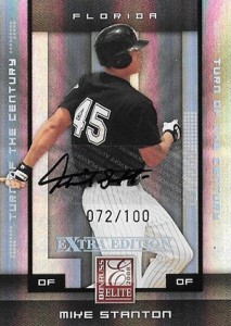 2008 Elite Extra Edition Turn of the Century Autographs Mike Stanton