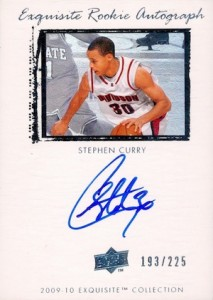 2009-10 Exquisite Collection Stephen Curry RC #64 Autograph