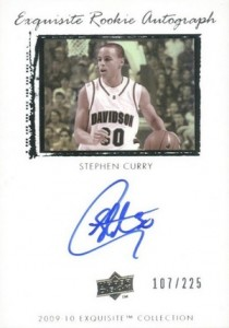 2009-10 Exquisite Collection Stephen Curry RC #72 Autograph