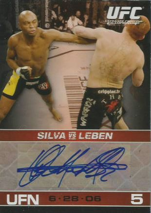 Anderson Silva Cards and Autographed Memorabilia Guide 3