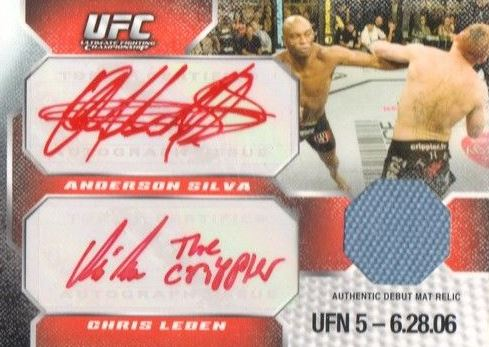Anderson Silva Cards and Autographed Memorabilia Guide 4