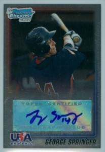 Top George Springer Prospect Cards 1