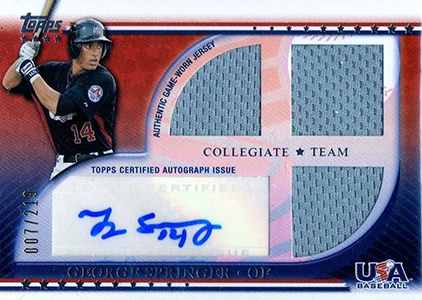 Top George Springer Prospect Cards 8