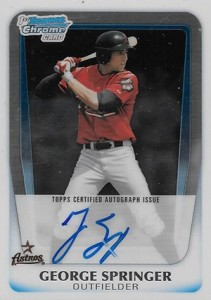 Top George Springer Prospect Cards 11
