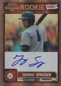 Top George Springer Prospect Cards 18