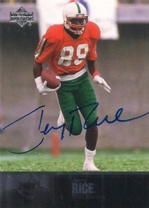 huge selection of b84b7 4dbc6 Guide to the Top Jerry Rice Cards