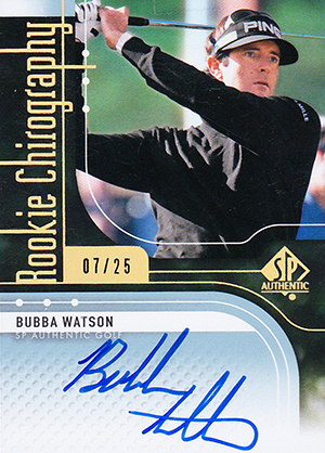 2012 SP Authentic Bubba Watson Rookie Chirography Autograph