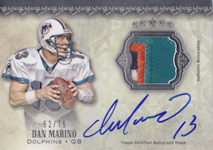 2012 Topps Five Star Signatures Patch Dan Marino