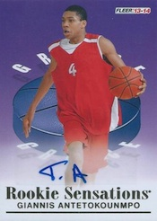 2013-14 Fleer Retro Basketball 1992-93 Fleer Rookie Sensations Autographs Giannis Antetokounmpo