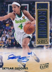 2013-14 Fleer Retro Basketball 1993-94 Ultra All-Rookie Series Autographs Skylar Diggins